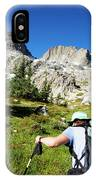 Cropped Rear View Of A Female Hiker IPhone Case
