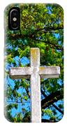 Cross At The Monastery Of The Holy Spirit IPhone Case