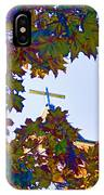 Cross Framed By Leaves IPhone Case