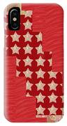 Cross Through Sparkle Stars On Red Silken Base IPhone X Case