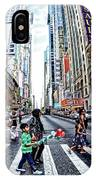 Crossing The City Street IPhone Case