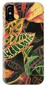 Croton Leaves IPhone X Case