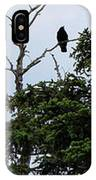 Crow - Black  Bird - Loud Call IPhone Case