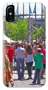 Crowd Watching Filming Of Today Show In Old Montreal-qc IPhone Case