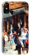 Crowded Sidewalk In New York IPhone Case
