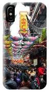 Crowds Throng Shanghai Chenghuang Miao Temple Over Lunar New Year China IPhone Case