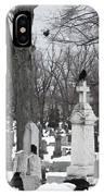 Crows In Gothic Winter Wonderland IPhone Case