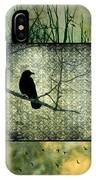 Crows In Nature Collage IPhone Case