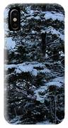 Crows Perch - Snowstorm - Snow - Tree IPhone Case