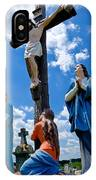 Cruficix Statue At St Alphonsus Church Wexford  IPhone Case