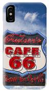 Cruisers Cafe 66 Sign IPhone Case
