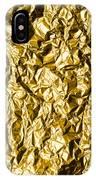 Crumpled Gold Foil IPhone Case
