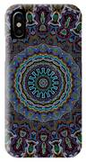 Crushed Blue Velvet Kaleidoscope IPhone Case