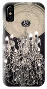 Crystal Chandelier - Paris Black And White Chandelier - Sparkling Elegant Chandelier Opulence IPhone Case
