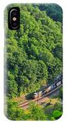 Csx Train At Hawks Nest Dam IPhone Case