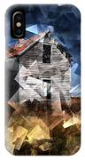 Cubist Abandoned Prairie Farm House IPhone Case