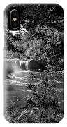 Cumberland Falls Black And White IPhone Case