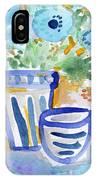 Cups And Flowers-  Watercolor Floral Painting IPhone Case
