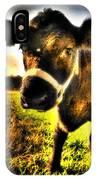 Curious Calf Dark IPhone Case