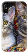 Curious Kitties IPhone Case