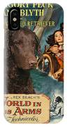 Curly Coated Retriever Art - The World In His Arms Movie Poster IPhone Case