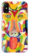 Curly Colorful Retriever IPhone Case