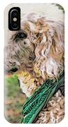 Curly White Dog IPhone Case