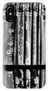 Curtain In Black And White IPhone Case