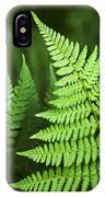 Curved Fern Leaf IPhone Case