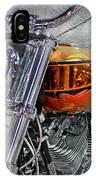 Custom Bike In Orange And Black IPhone Case