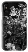 Cut Flowers In Monochrome IPhone Case