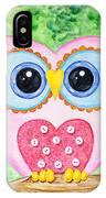 Cute As A Button Owl IPhone Case
