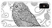 Cute Bird In Fantasy Flower Garden IPhone X Case