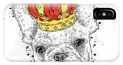 Cute Puppy Wearing A Crown. French IPhone X Case