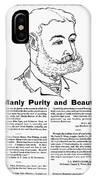 Cuticura Ad, 1887 IPhone Case