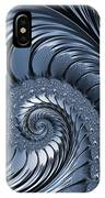 Cyan Scrolls Abstract IPhone Case