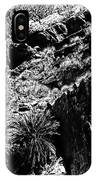 Cycads At Cliffs' Edge Black And White IPhone Case