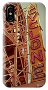 Cyclone Roller Coaster - Coney Island IPhone Case