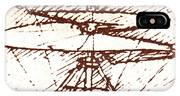 Da Vinci's Helicopter IPhone Case