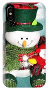 Daddy And Baby Snowmen Decorations IPhone Case