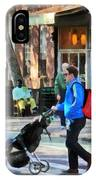 Daddy Pushing Stroller Greenwich Village IPhone Case