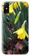 Daffodils In The Rain  IPhone Case