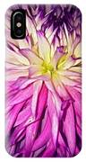 Dahlia Bursting With Color IPhone Case