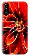 Dahlia Expressive Brushstrokes IPhone Case