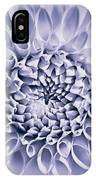 Dahlia Flower Star Burst Purple IPhone Case