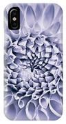Dahlia Flower Star Burst Purple IPhone Case