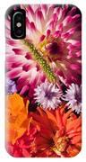 Dahlia Zinnia Bachelor's Buttons Flowers IPhone Case
