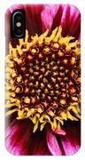 Dahlia's Golden Crown IPhone Case