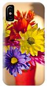 Daisies In A Vase On Shelf IPhone Case
