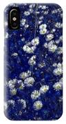 Daisies In Blue Fire IPhone Case